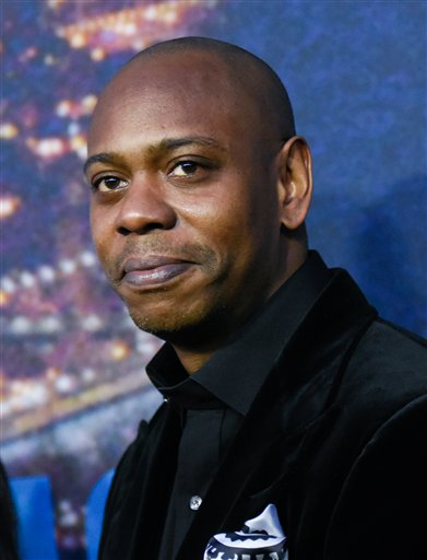 Dave Chappelle attends the SNL 40th Anniversary Special at Rockefeller Plaza on Sunday, Feb. 15, 2015, in New York. (Photo by Evan Agostini/Invision/AP)