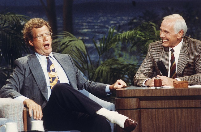 David Letterman with Johnny Carson_143799