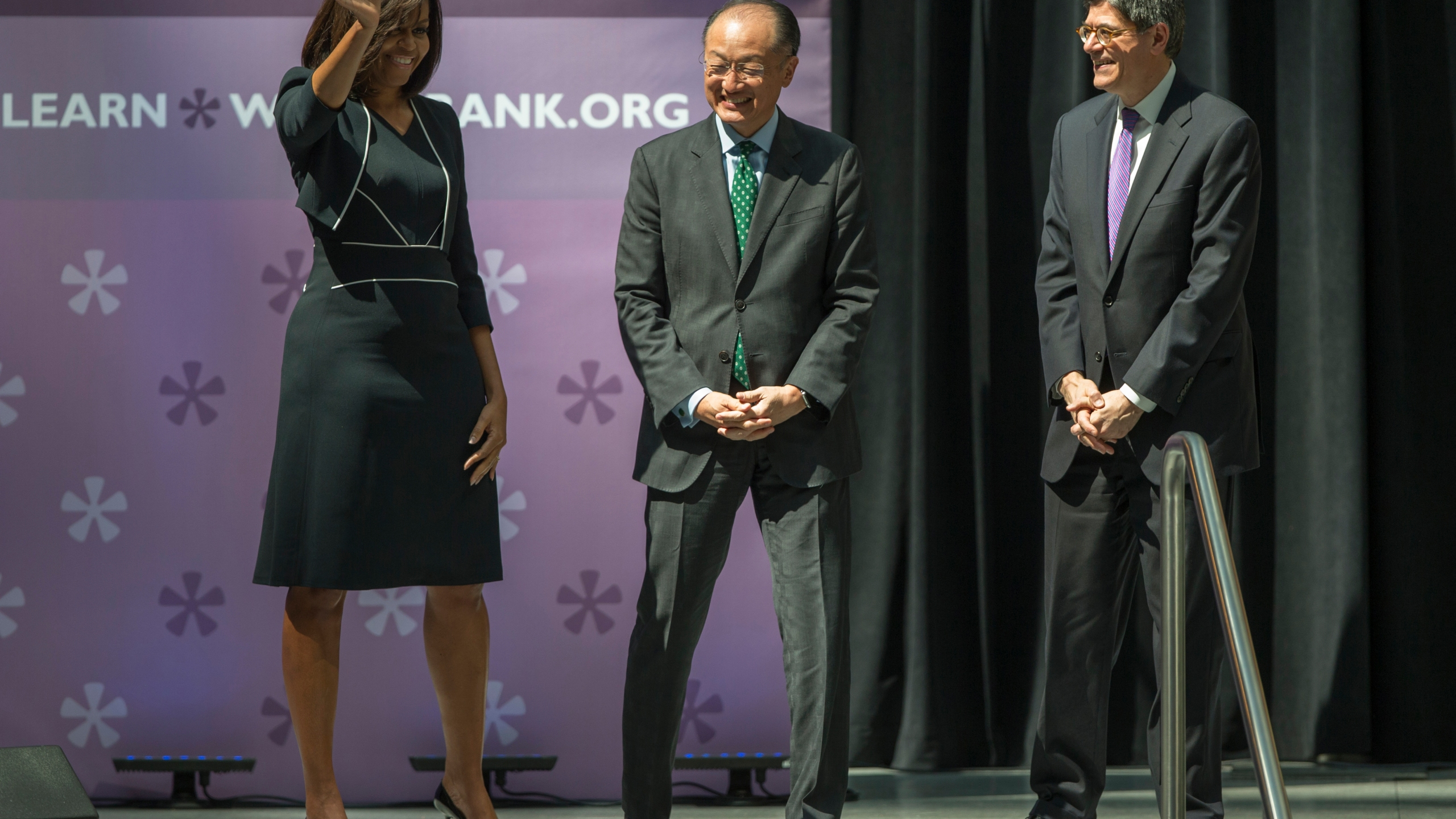 Michelle Obama, Jacob Lew, Jim Yong Kim_349922