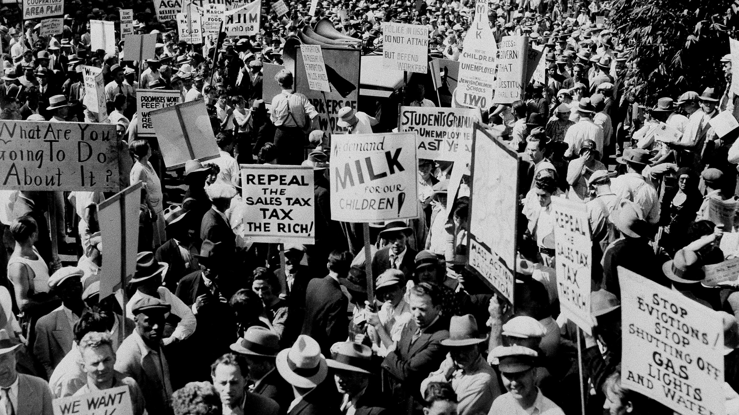 The Great Depression Hunger March_450334