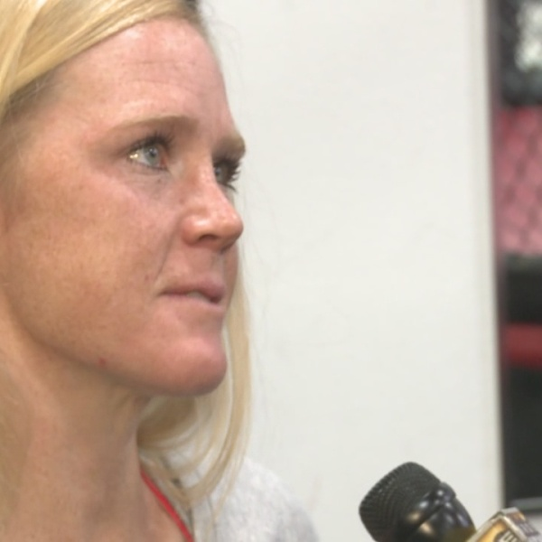 Holly Holm is in Van Tate's Sports Office