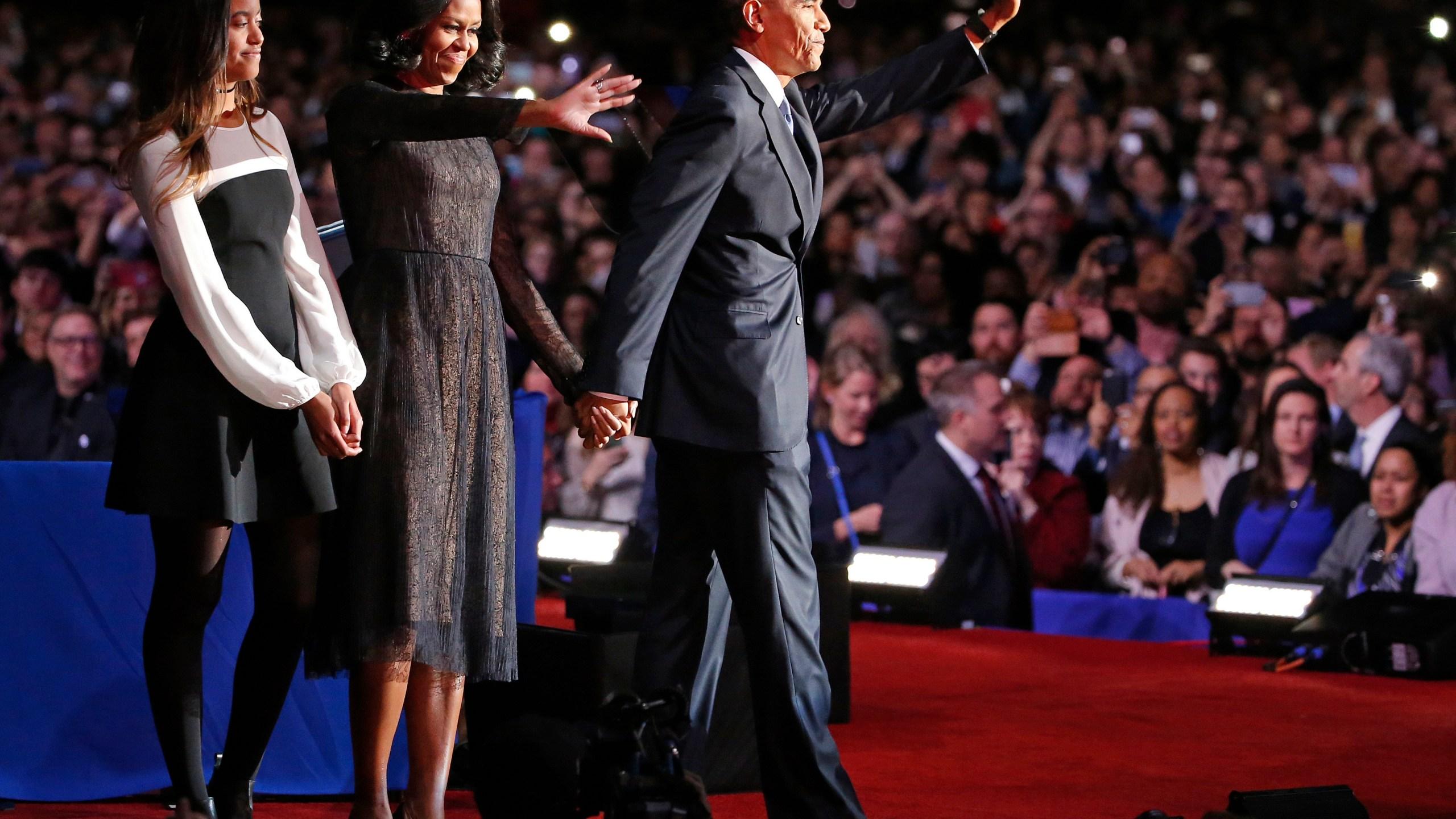 Barack Obama, Michelle Obama, Malia Obama_505387