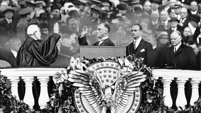 Franklin D. Roosevelt, Charles E. Hughes, Herbert Hoover, James Roosevelt_505951