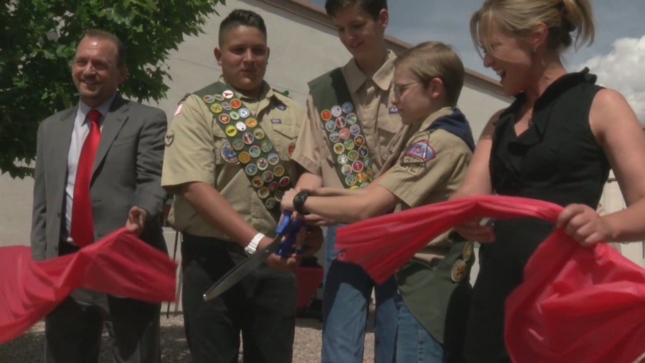 Boy Scouts raise funds for playground at CYFD offices