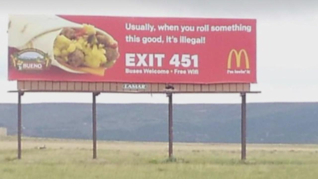 McDonald's billboard near Raton_605876