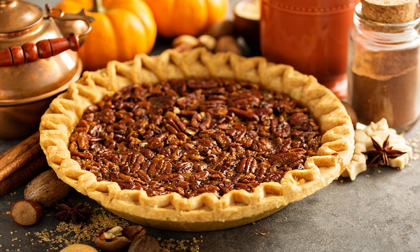 Traditional pecan pie, fall dessert concept for Thanksgiving_732472