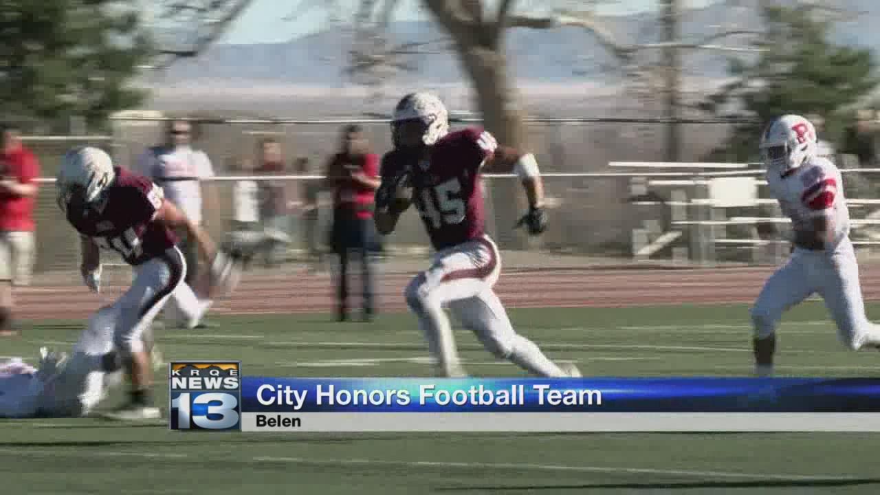 Belen honors high school football team_771468