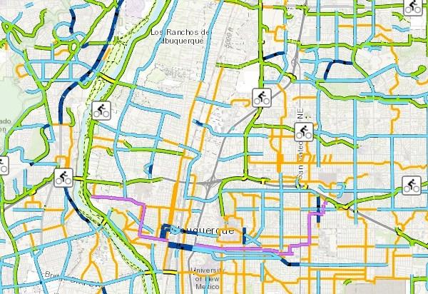 Albuquerque Bike Trail Map