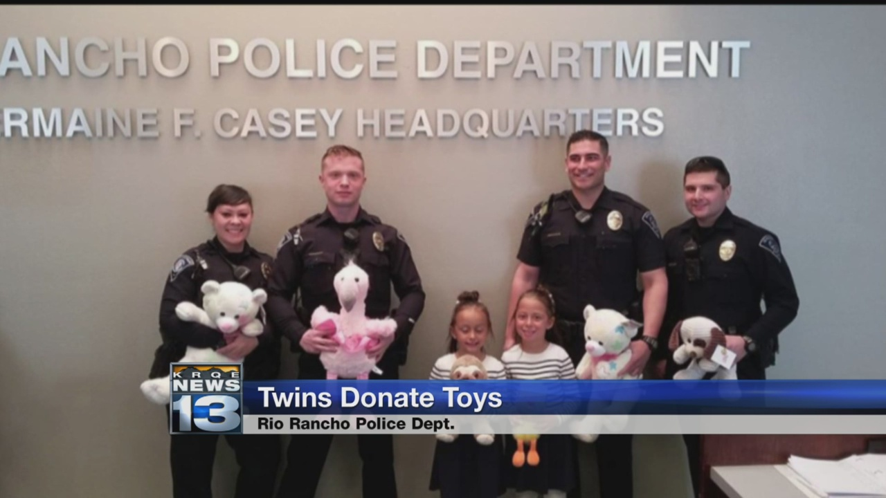 Twin girls donate 50 stuffed animals to Rio Rancho Police_1522902273418.jpg.jpg