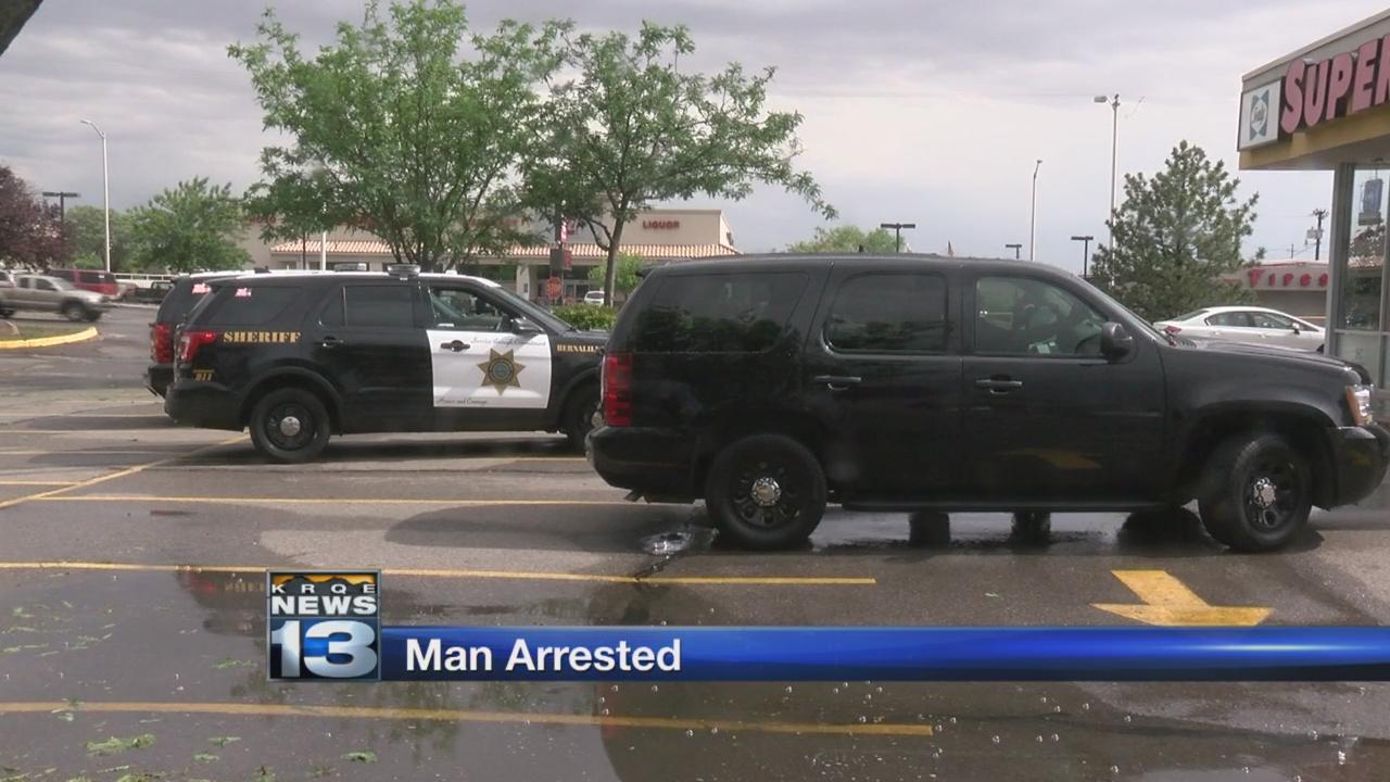 Man arrested after barricading himself inside business_1526962271270.jpg.jpg