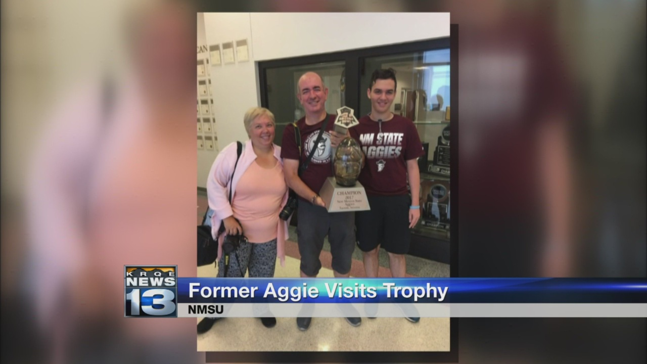 European Aggie fans visit Las Cruces to check out bowl trophy_1533941332808.jpg.jpg
