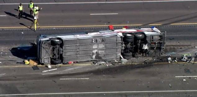 VIDEO: I-25 fatal bus crash surveillance video released
