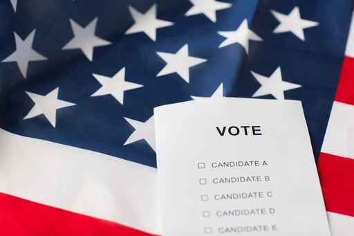 empty ballot or vote on american flag_452368