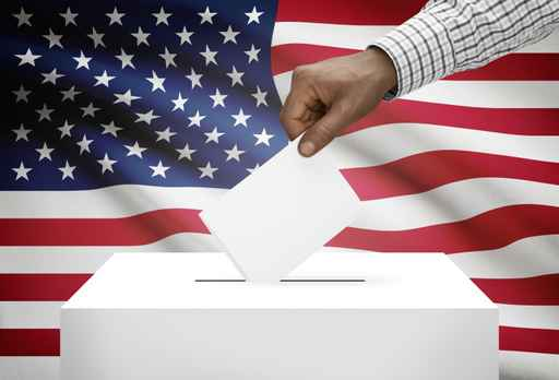 Ballot box with national flag - United States of America_452499