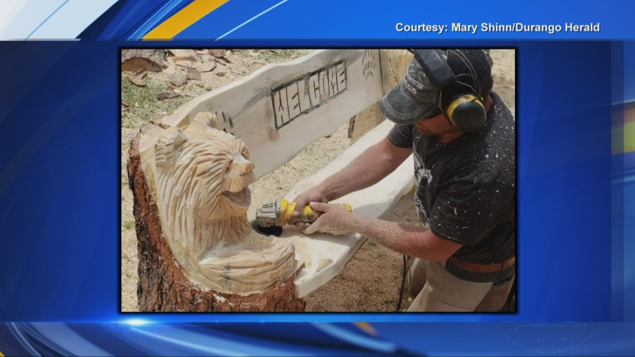 Bench in Durango features carving of rescued bear cub_1542153716919.jpg.jpg