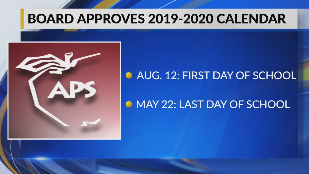 Aps Calendar 2020-2021 APS approves calendar for 2019 2020 school year