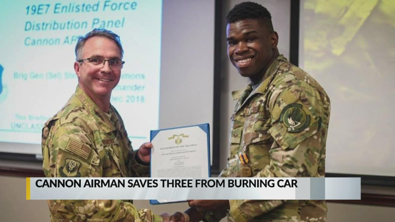 Cannon airman honored for saving family from burning car_1545177087855.jpg.jpg