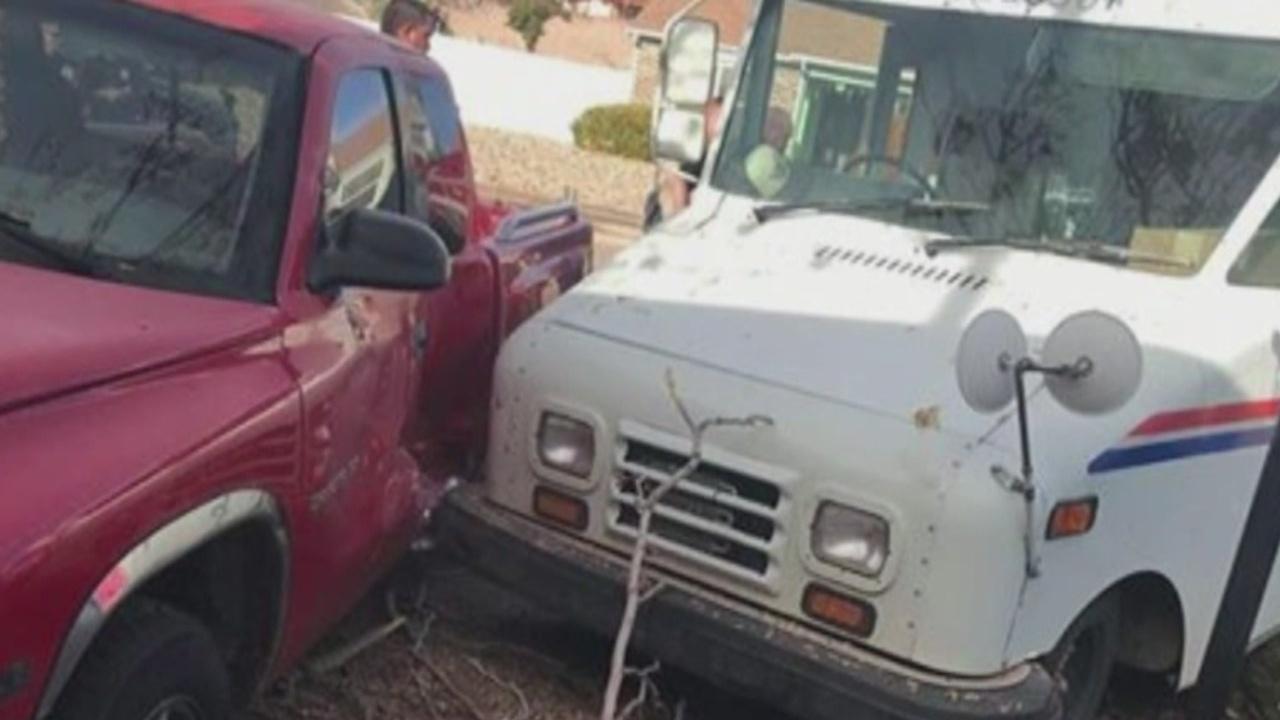 Postal truck hit my car