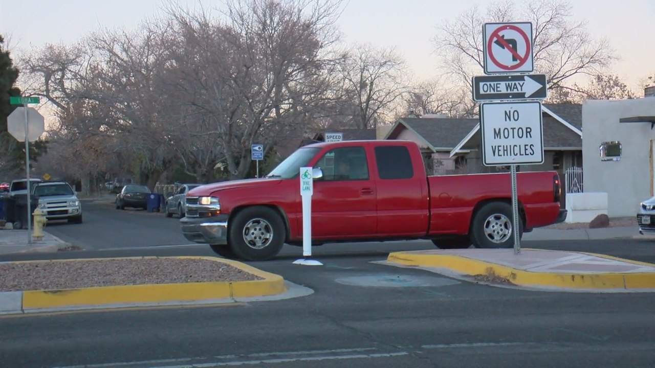 New 'flex posts' installed to keep cars out of bike crossing_1544764913200.jpg.jpg