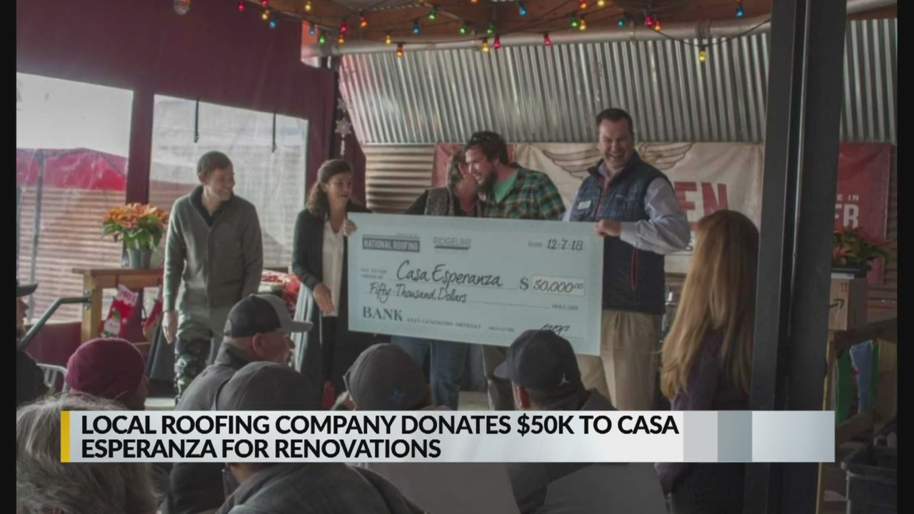 Roofing company makes big donation to help Albuquerque shelter_1544829047428.jpg.jpg