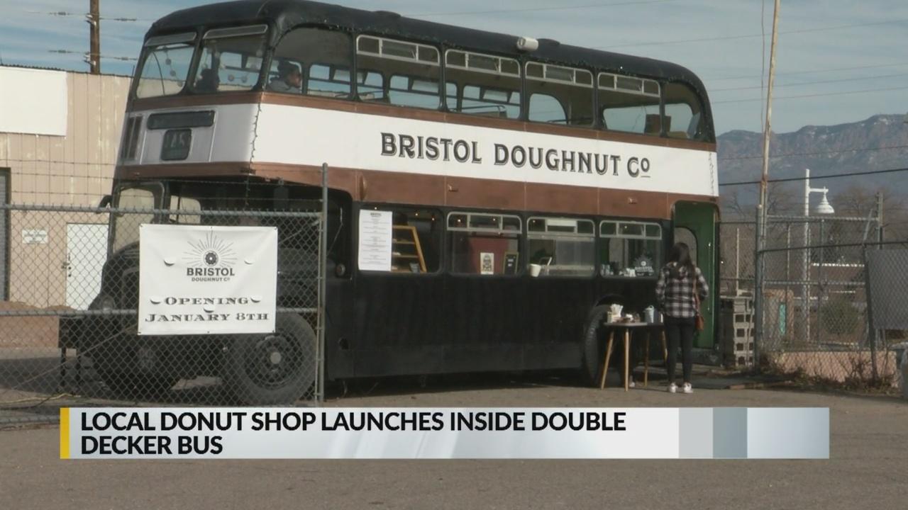 Local doughnut shop moves into British double decker bus