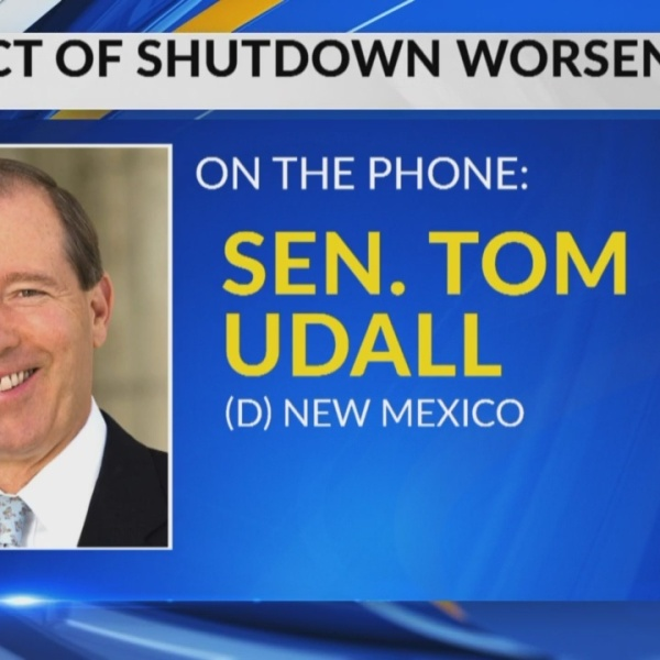 Sen. Tom Udall address effects of government shutdown
