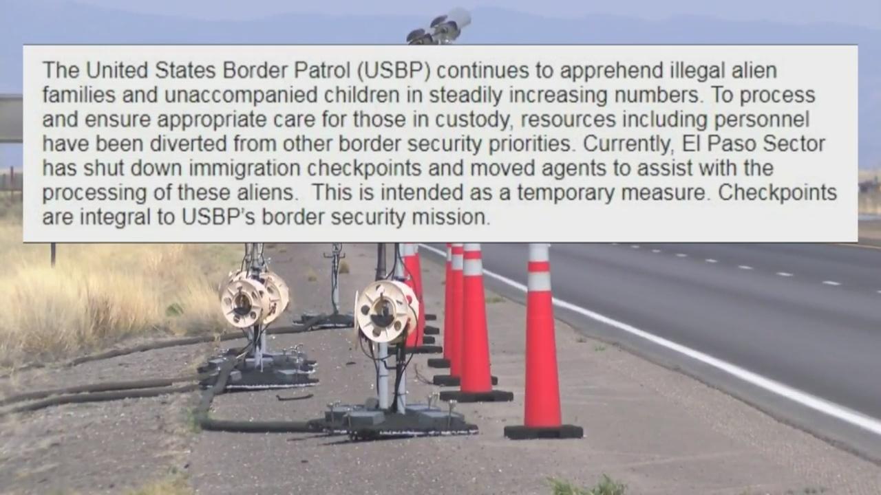 New Mexico Border Patrol checkpoints temporarily shut down