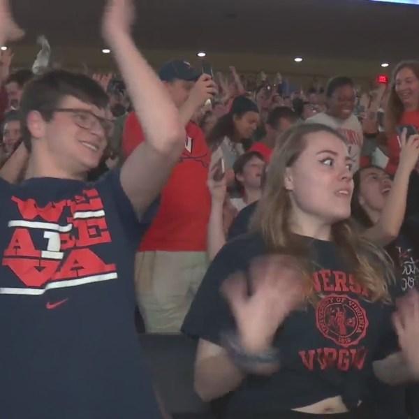 Students celebrate win