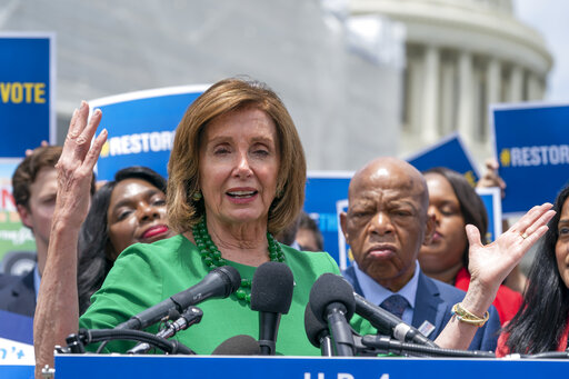 Nancy Pelosi, Terri Sewell, John Lewis