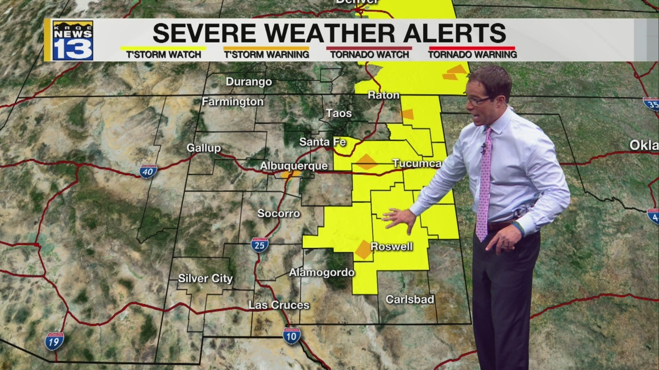 Severe weather for parts of NM