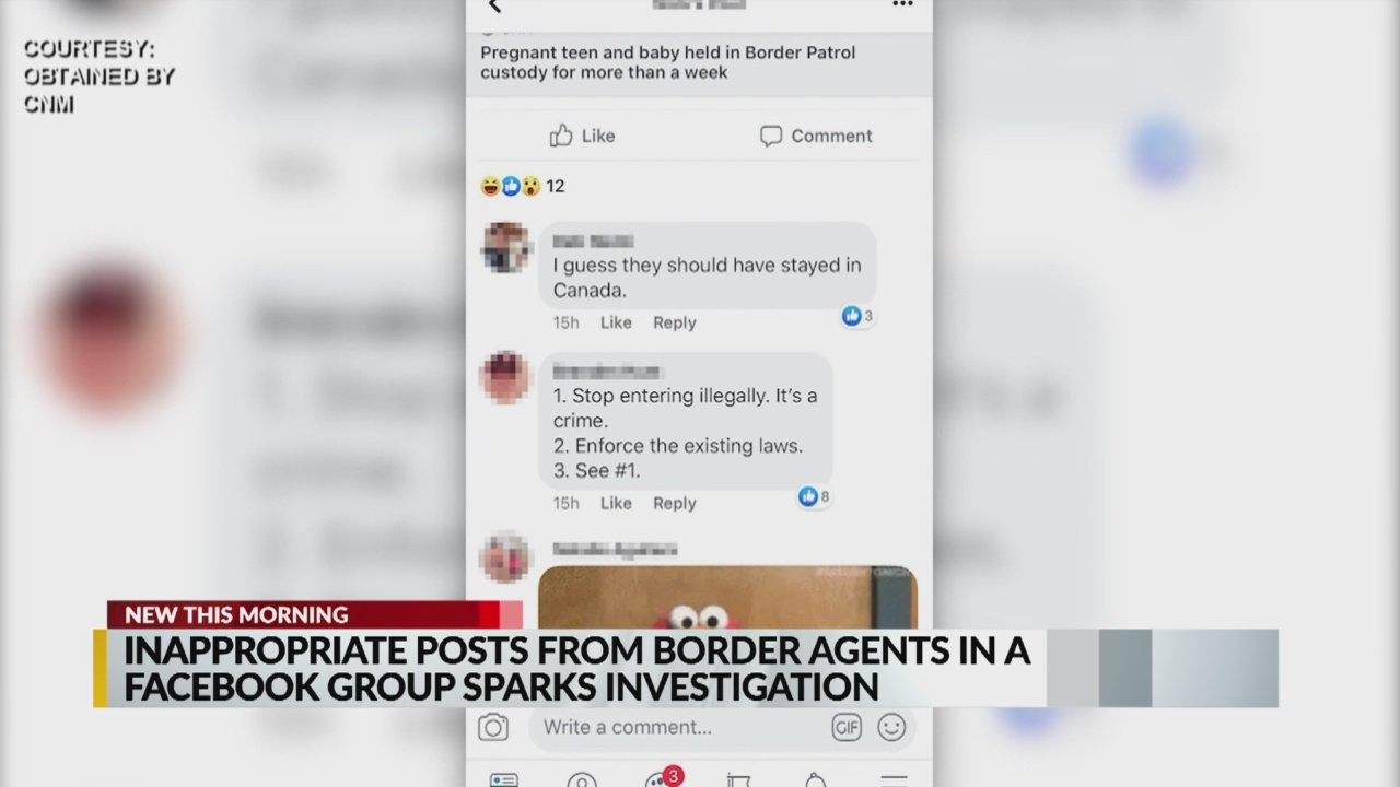 Inappropriate posts from border agents in Facebook group spark