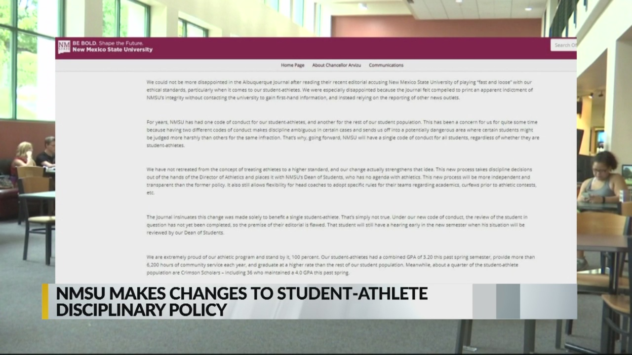NMSU under fire for new policy regarding student-athletes