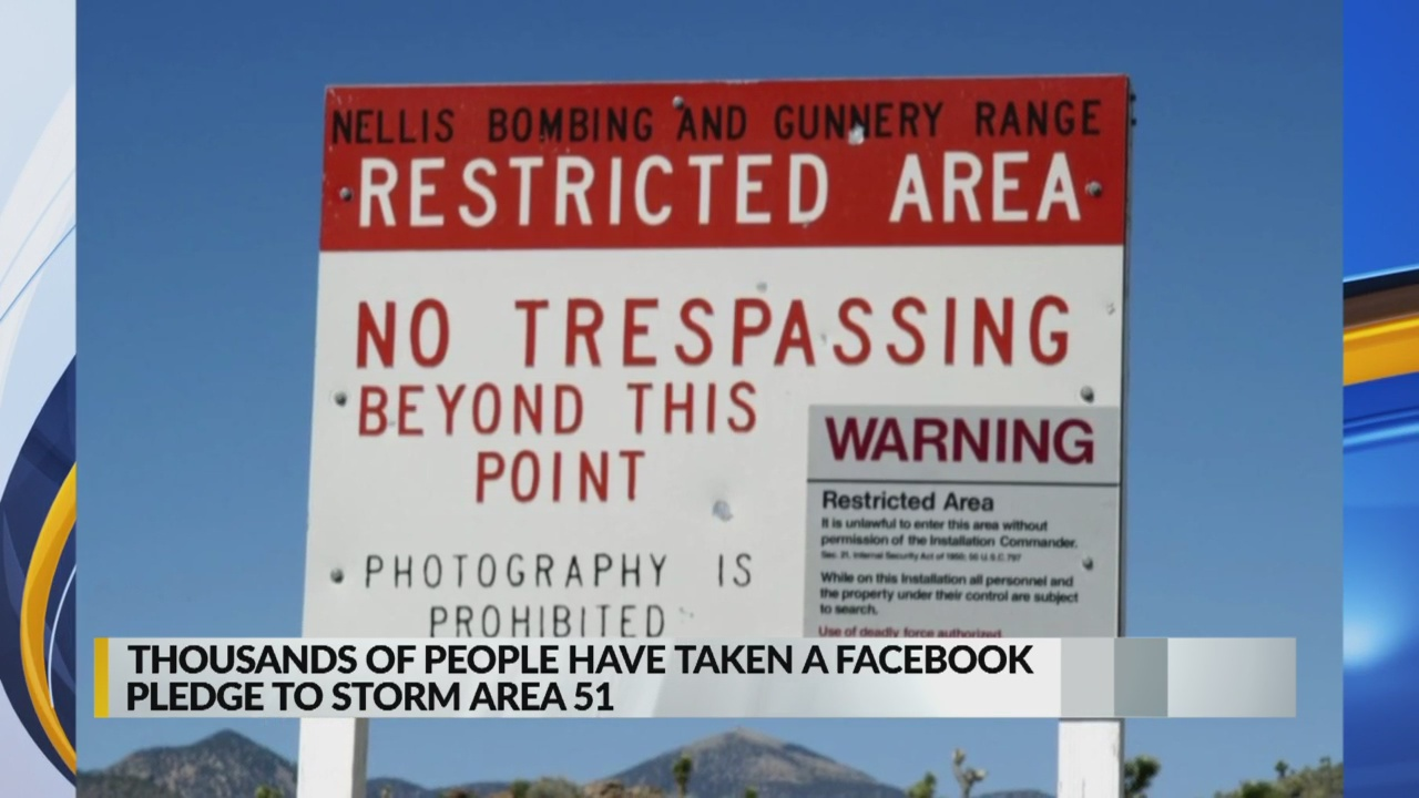 Thousands Take Facebook Pledge To Storm Area 51 Krqe News 13