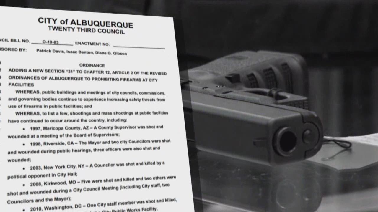 Albuquerque city councilors file three new gun bills | KRQE News 13