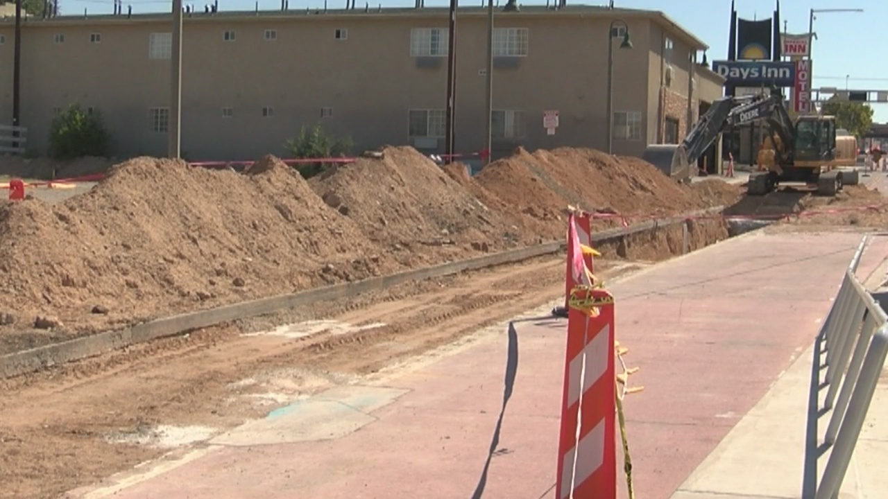 City rips up portion of newly paved Central for storm drain