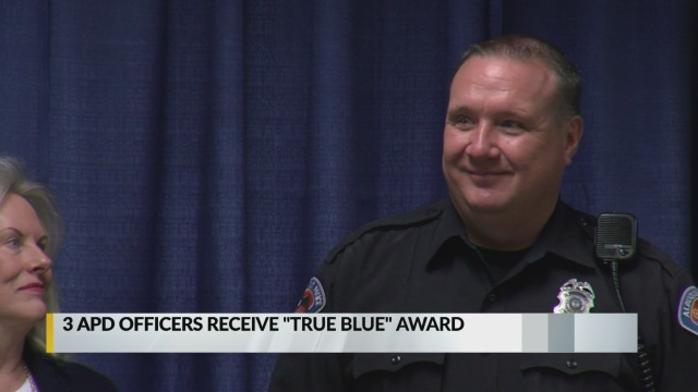 Three Albuquerque police officers honored for their altruism