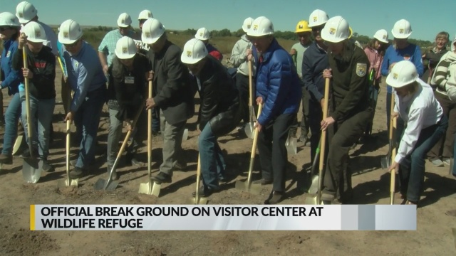 Crews break ground on Valle De Oro visitor center