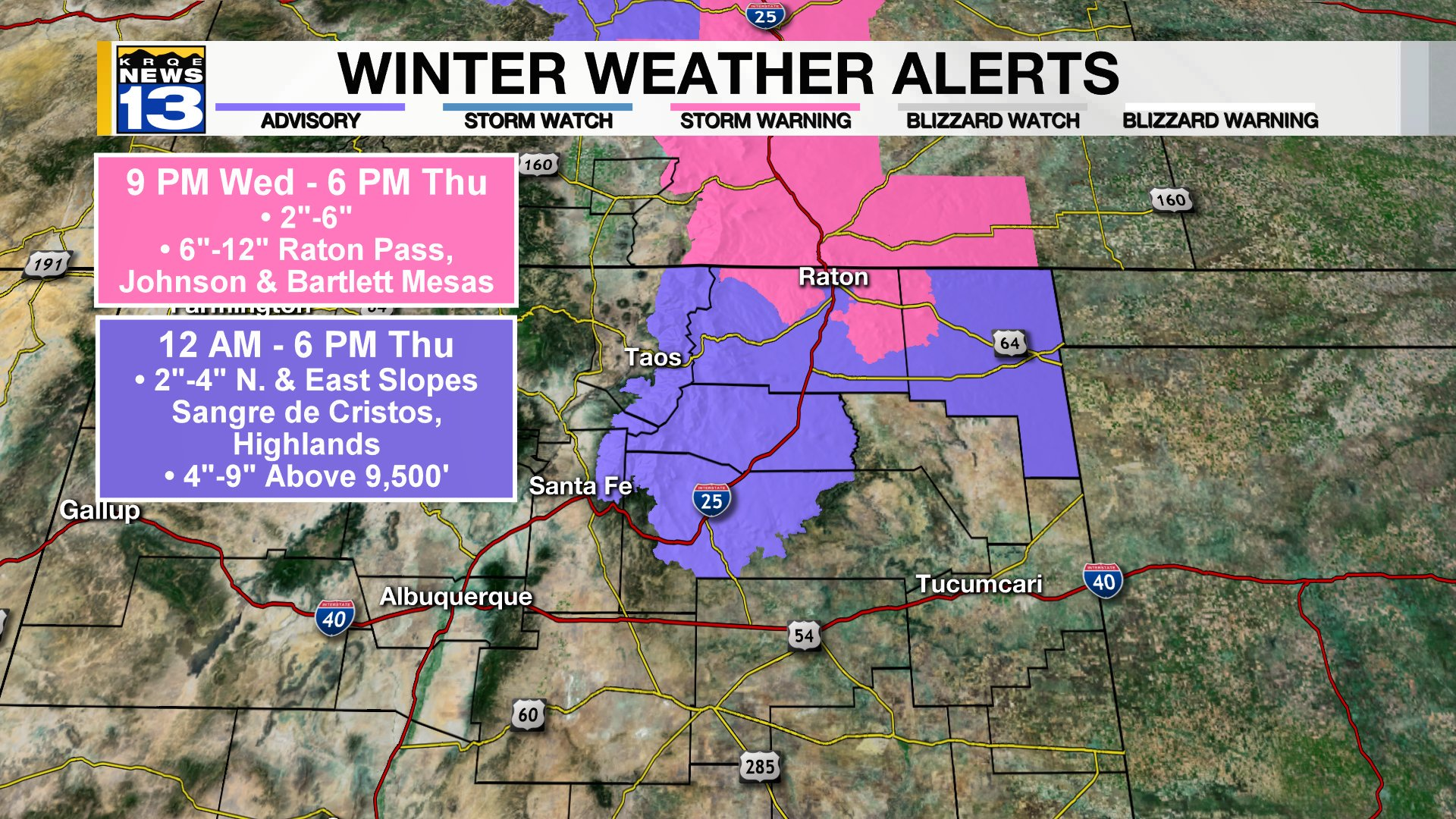 Freezing Temperatures Possible Thursday Throughout New Mexico
