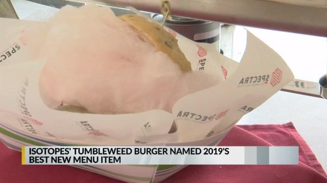 Magazine praises Isotopes' Tumbleweed Burger