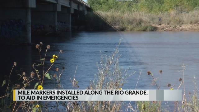 Mile marker signs installed along Rio Grande in Albuquerque's bosque