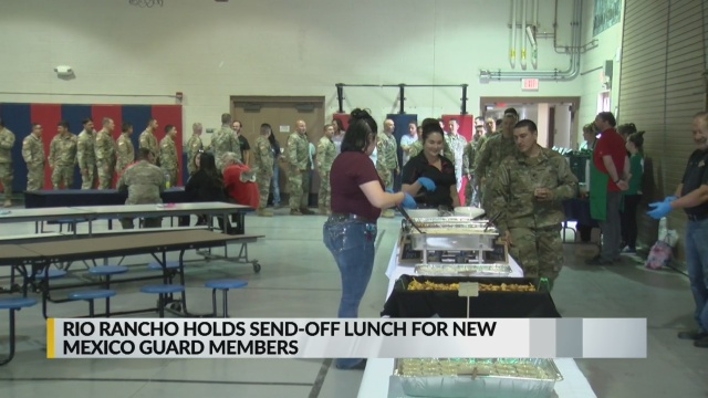 Rio Rancho hosts special send-off lunch for National Guardsmen