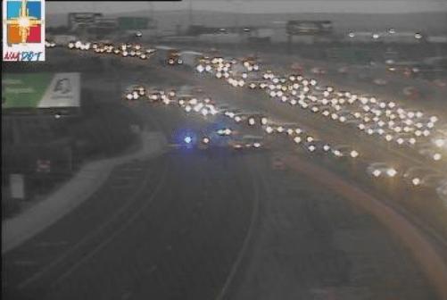 Crash closes off-ramp on I-25 northbound at Montgomery