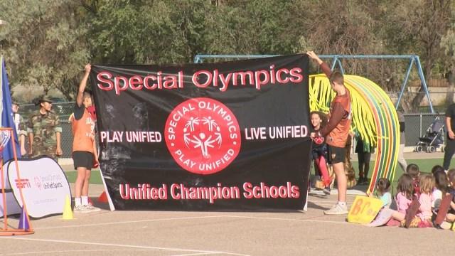 Special Olympics honors John Baker Elementary as National Banner School