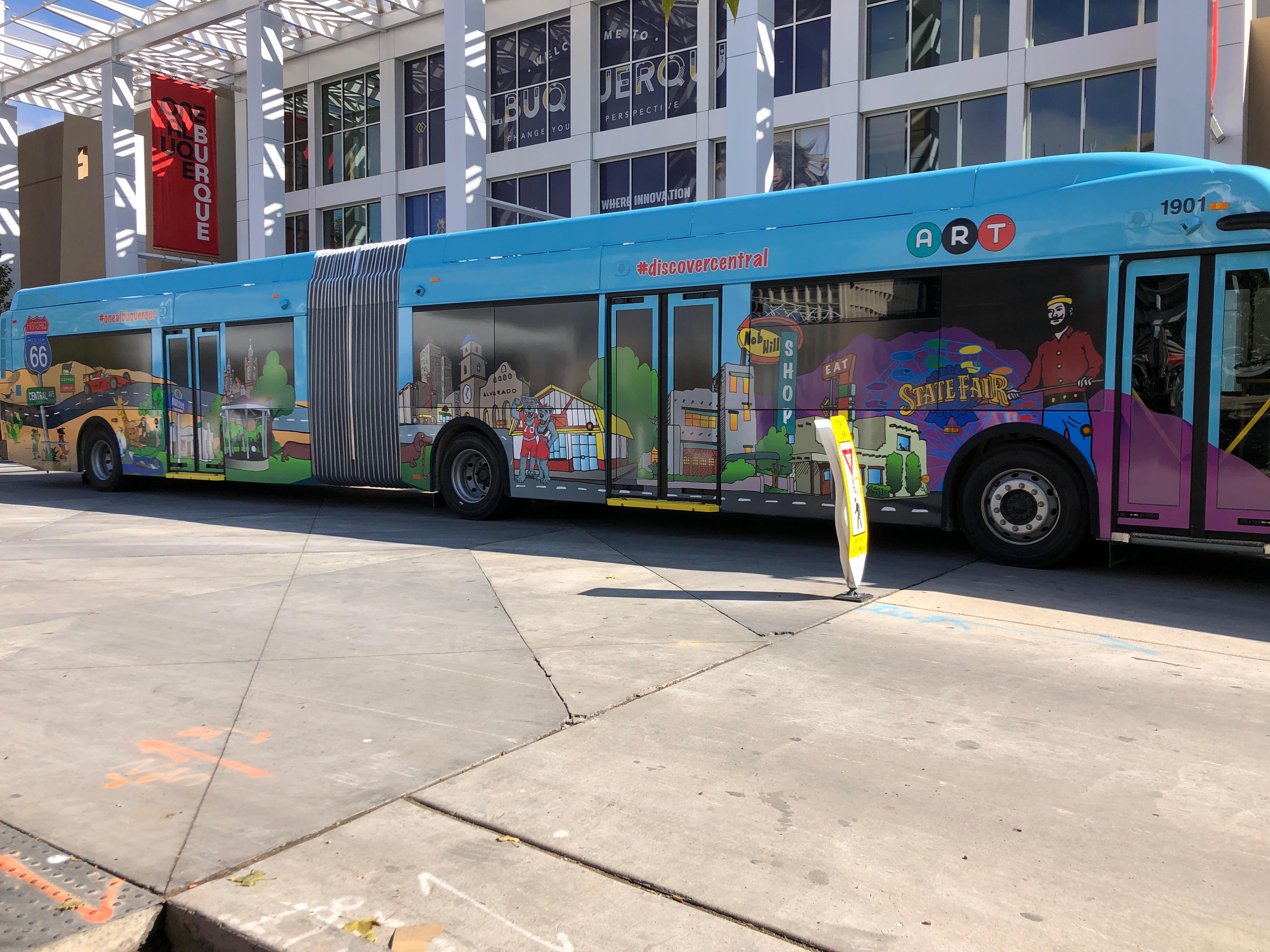 Art Buses Hit The Streets Nov 30 Krqe News 13