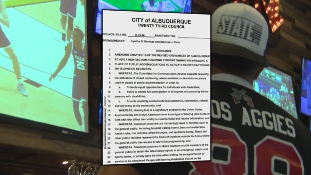 Albuquerque City Council set to vote on closed captioning ordinance