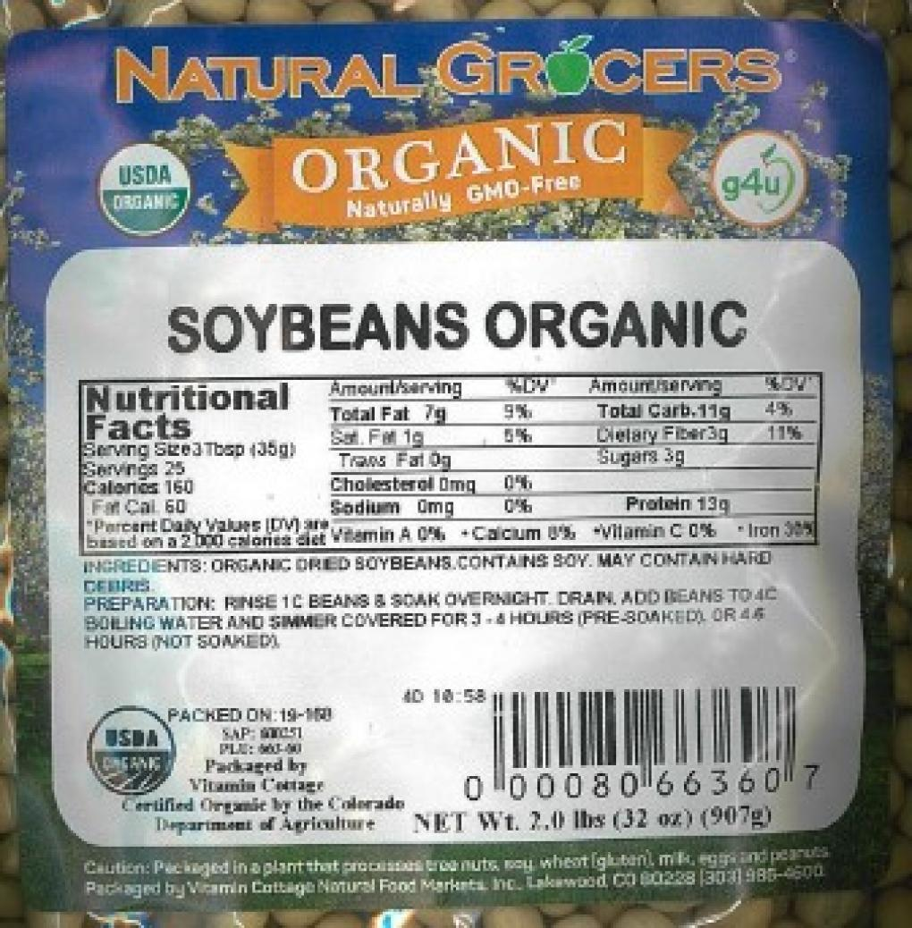 Natural Grocers Organic Soybeans Recalled Due To Mold Krqe News 13