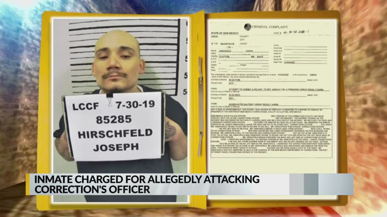 New Mexico inmate accused of attacking correctional officer 1