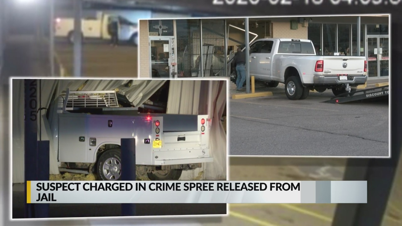 Suspect charged in crime spree released from jail