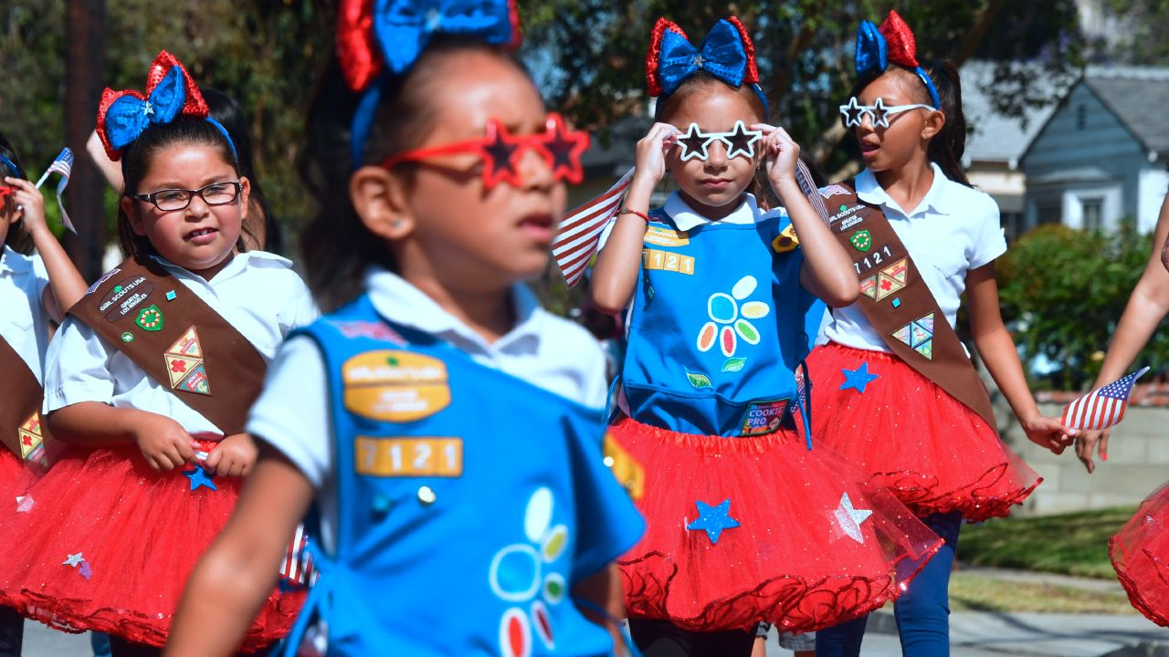 Leap Into Girl Scouts during kindergarten and 1st-grade recruitment event