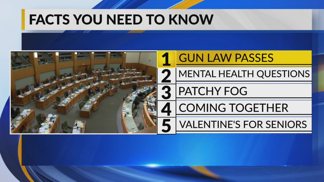 February 14 Morning Rush: Controversial 'red flag law' passes the House